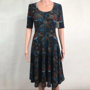 Lularoe Teal Nicole Midi Dress Size Small New